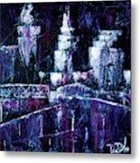 Night Town Cle Metal Print