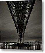 Night View Of Forth Road Bridge Metal Print