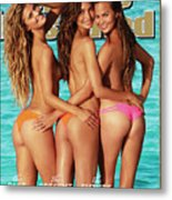 Nina Agdal, Lily Aldridge, And Chrissy Teigen Swimsuit 2014 Sports Illustrated Cover Metal Print