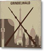 No1042 My The Crimes Of Grindelwald Minimal Movie Poster Metal Print