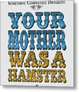 No15 My Silly Quote Poster Metal Print