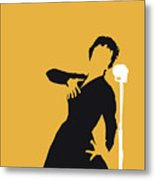 No224 My Edith Piaf Minimal Music Poster Metal Print