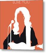 No273 My Dolly Parton Minimal Music Poster Metal Print