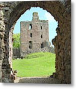 Norham Castle And Entrance Gate Metal Print