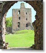 Norham Castle And Tower Through The Entrance Gate Metal Print