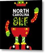North Carolina Elf Xmas Elf Santa Helper Christmas Metal Print