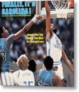 North Carolina James Worthy, 1982 Ncaa National Championship Sports Illustrated Cover Metal Print