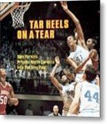 North Carolina Sam Perkins, 1982 Ncaa East Regional Playoffs Sports Illustrated Cover Metal Print