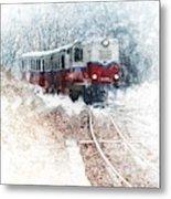 Northern European Train Metal Print