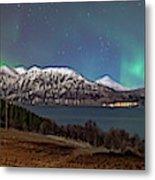 Northern Lights Over Grytoya Metal Print
