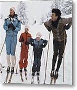 Norway, Danish Royal Family Skiing Metal Print