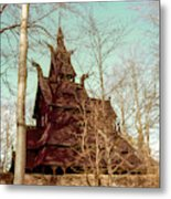 Norwegian Stave Church Metal Print