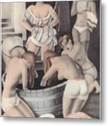 Nude And Obeying Metal Print