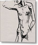 Nude Model Gesture Xxi Metal Print