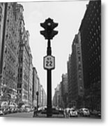 Ny Lights Metal Print