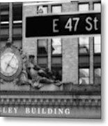 Nyc In Black And White Xii Metal Print