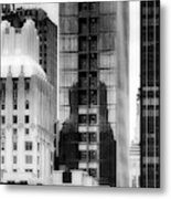 Nyc In Black And White Xv Metal Print