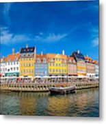 Nyhavn District Is One Of The Most Metal Print