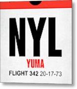 Nyl Yuma Luggage Tag I Metal Print