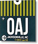 Oaj Oaj Jacksonville Luggage Tag I Luggage Tag I Metal Print
