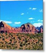 Oak Creek Jack's Canyon Blue Sky Clouds Red Rock 0228 3 Metal Print