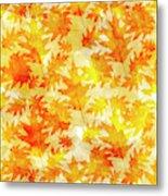 Oak Leaf Pattern Metal Print