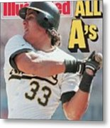 Oakland Athletics Jose Canseco, 1988 Al Championship Series Sports Illustrated Cover Metal Print