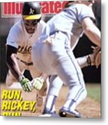 Oakland Athletics Rickey Henderson, 1989 Al Championship Sports Illustrated Cover Metal Print