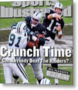 Oakland Raiders Qb Rich Gannon, 2003 Afc Divisional Playoffs Sports Illustrated Cover Metal Print