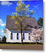 Oakland White Church Metal Print