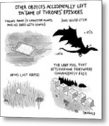 Objects Left In Game Of Thrones Episodes Metal Print