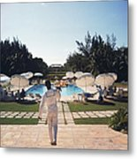 Ocean Club On Paradise Island Metal Print