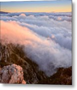 Ocean Of A Cloud And Sky Of Dawn Metal Print