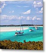Ocean View From Warderick Cay In Exumas Metal Print