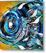 Ochre Fish Four Metal Print