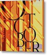 October In Michigan Metal Print