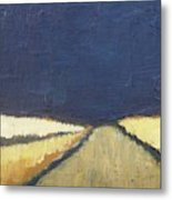 October Night Fields Metal Print