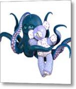 Octopus And Purple Bear Metal Print