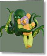 Octopus Green And Bear Metal Print