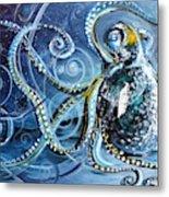 Octopus Of Nine Brains Metal Print