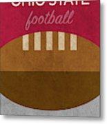 Ohio State Football Minimalist Retro Sports Poster Series 003 Metal Print