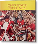 Ohio State Still No. 1 Sports Illustrated Cover Metal Print