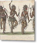 Ojibwa War Dance Metal Print