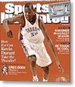 Oklahoma City Thunder Kevin Durant... Sports Illustrated Cover Metal Print