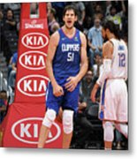 Oklahoma City Thunder V La Clippers Metal Print