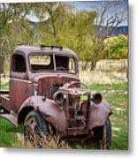 Old Abandoned Chevy Truck Metal Print