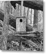 Old Birdhouse Metal Print