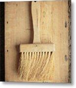 Old Bristle Brush Metal Print