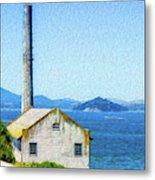 Old Building At Alcatraz Island Prison Metal Print