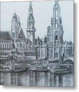 Old City Of Dresden- Dresden Metal Print